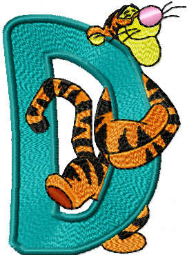 tigger free machine embroidery design