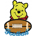Free embroidery design Winnie Pooh Football Logo