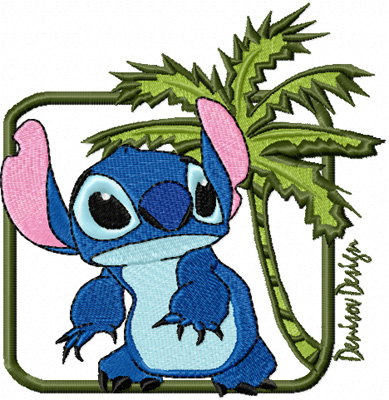 stitch free machine embroidery design