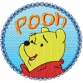 Free embroidery design Winnie Pooh Logo