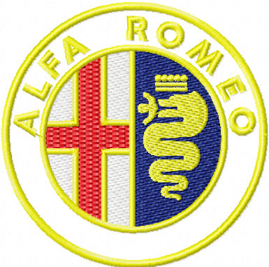 Alfa Romeo auto logo free machine embroidery download