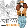 I love Venice machine embroidery design
