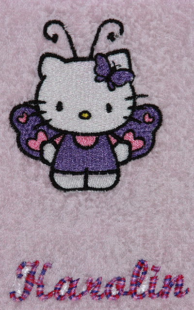 hello kitty butterfly machine embroidery design