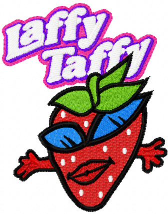 Laffy Taffy Strawberry machine embroidery design