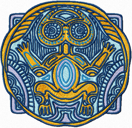 Totem embryo machine embroidery design