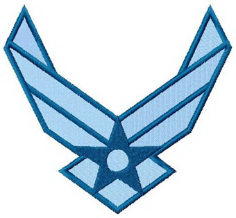 USA Air Force logo machine embroidery design