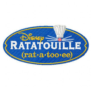 Ratatouille Logo machine embroidery design