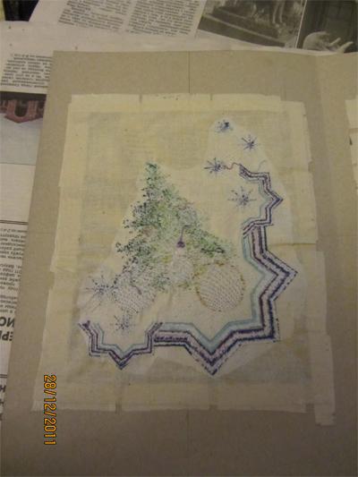 glue embroidered post cad design