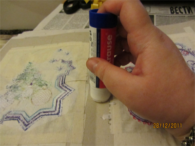 how make embroidered post card