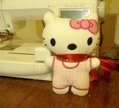 embroidered hello kitty toy