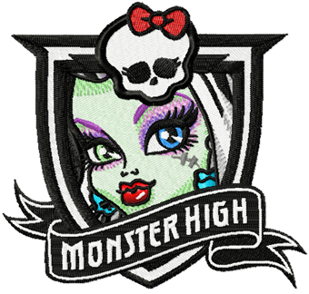 Monster High Frankie Stein machine embroidery design
