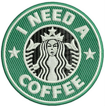 I need a coffee machine embroidery design