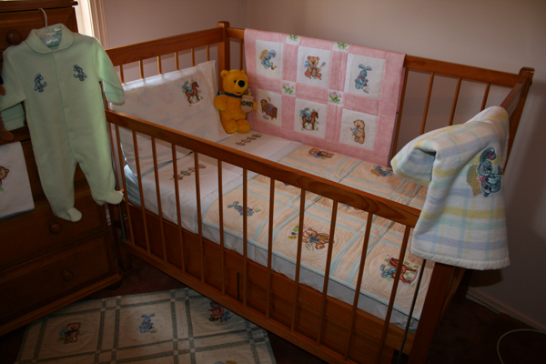 Baby Room With Old Toys Machine Embroidery Designs