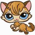 Littlest Pet shop Kitty machine embroidery design