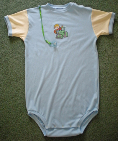 baby dress with bob bullder embroidery design