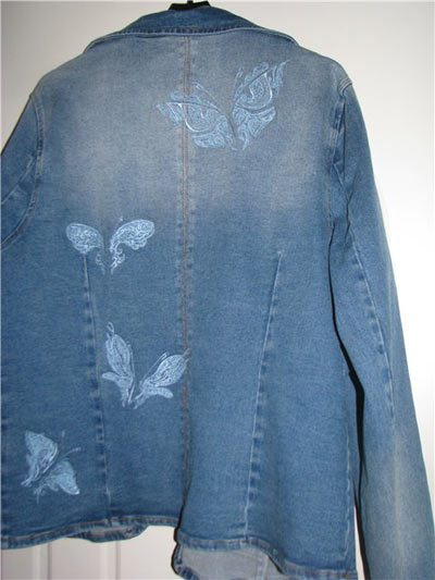 jacket with funtastic butterfly embroidery