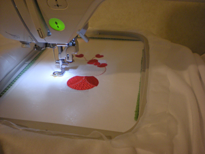 hello kitty embroidery sewing in embroidery machine