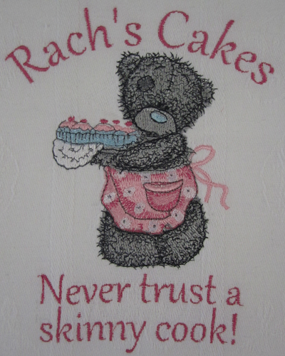 ... Teddy Bear Making Cupcakes Embroidery Machine Design