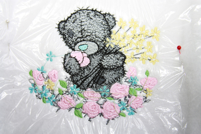 teddy bear with embroidery stabilizer