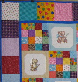 big view quilt old toys machine embroidery