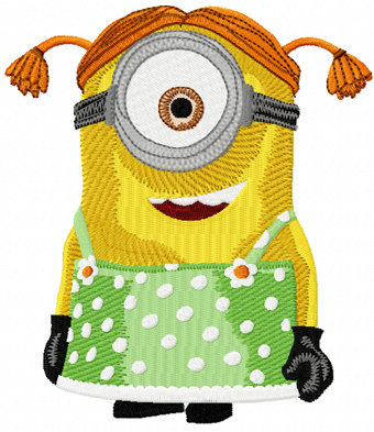 Minion Stuart machine embroidery design