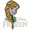 Anna with Frozen logo machine embroidery design