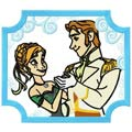 Anna and Hans machine embroidery design