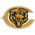 Chicago Bears logo 3 machine embroidery design