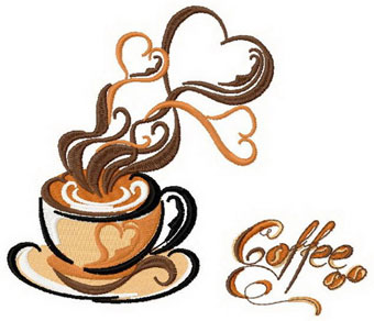 Free Coffee Embroidery Designs | Joy Studio Design Gallery - Best Design