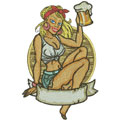 Girl love beer machine embroidery design