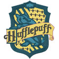 Hufflepuff emblem machine embroidery design