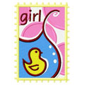 Postage stamp girl 3 embroidery design