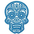 One color Scull machine embroidery design