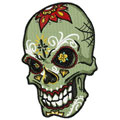 Scull with tattoo machine embroidery design