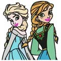 Sisters machine embroidery design
