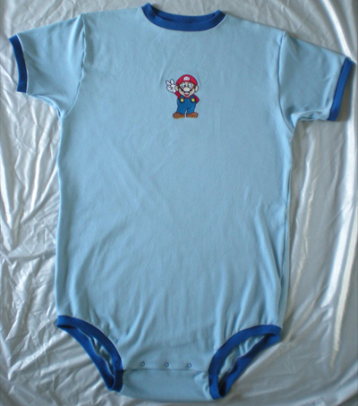 embroidered outfit with super mario