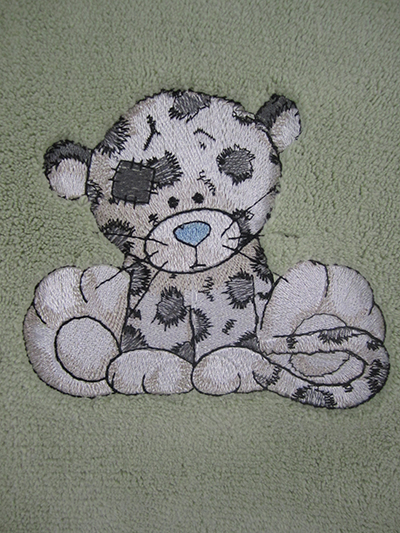 Leo from Teddy Bear machine embroidery collection