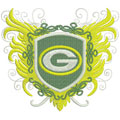 Green Bay Packers logo 2 machine embroidery design