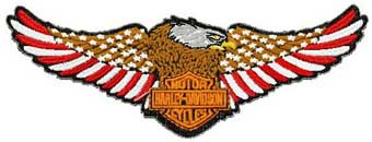 Harley Davidson logo 9 machine embroidery design