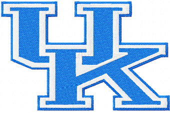 Kentucky Wildcats football team logo machine embroidery design