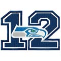 Seahawks 12 logo embroidery design