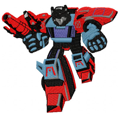 Transformers Pointblank machine embroidery design