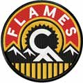 Calgary Flames alternative logo machine embroidery design