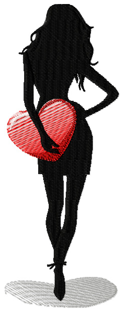 I will take away your heart - I will not return machine embroidery design