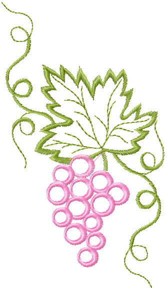 free bunch of grapes machine embroidery design