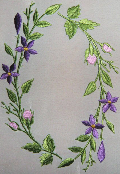 Branch Of Flowers Free Machine Embroidery Design