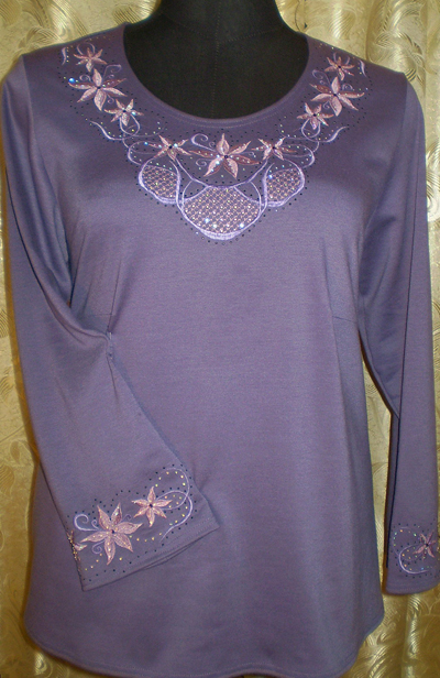 Women Blouse Free Machine Embroidery Decorations Set