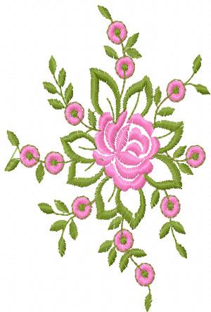 Rose Free Machine Embroidery Design