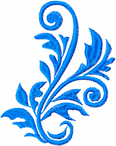 Ornament from leaves free machine embroidery design
