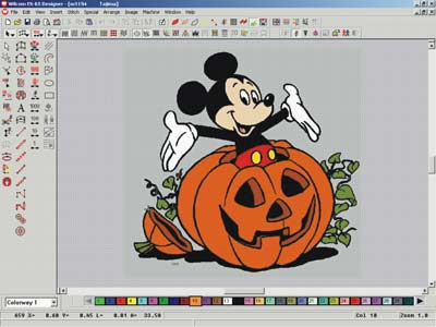 Step By Step Digitizing Tutorialmickey Mouse Helloween Embroidery